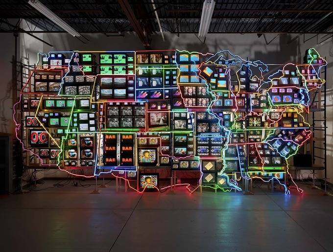 Nam June Paik Electronic Superhighway