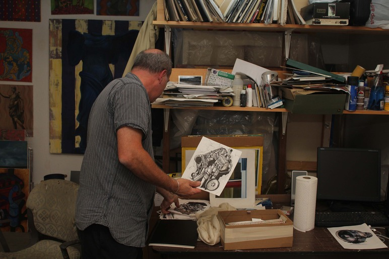 Brian Delacey Studio Visit 9